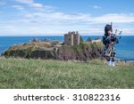 traditional scottish bagpiper... | Shutterstock . vector #310822316