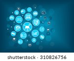 cloud computing concept as... | Shutterstock .eps vector #310826756