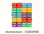 Wall Of Colored Dices That...