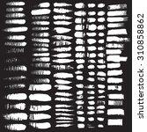 vector set of grunge brush...   Shutterstock .eps vector #310858862