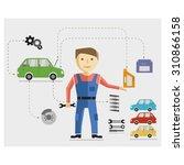 vector mechanic and repair... | Shutterstock .eps vector #310866158