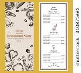 food menu restaurant cafe ... | Shutterstock .eps vector #310875662