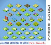 isometric building farm... | Shutterstock .eps vector #310912625