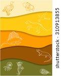 the evolution of life on earth. ... | Shutterstock .eps vector #310913855