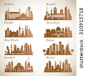 middle east cities skylines set.... | Shutterstock .eps vector #310915718