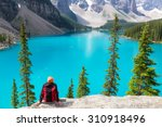 beautiful moraine lake in banff ... | Shutterstock . vector #310918496