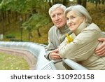 happy senior couple relaxing in ... | Shutterstock . vector #310920158
