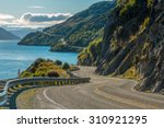 Road Along Lake Wakatipu ...