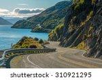 Road Along Lake Wakatipu ...