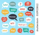 most common used acronyms and... | Shutterstock .eps vector #310923812