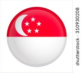 Vector   Singapore Flag Glossy...