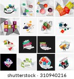 set of abstract geometric...