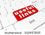 "button ""useful links"" on...   Shutterstock . vector #310957835"