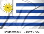 uruguay flag on soft and smooth ... | Shutterstock . vector #310959722