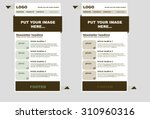 responsive newsletter template... | Shutterstock .eps vector #310960316