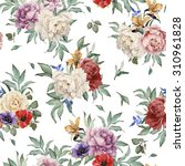 seamless floral pattern with... | Shutterstock . vector #310961828