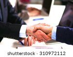 business people handshake ... | Shutterstock . vector #310972112