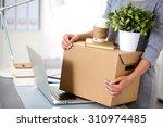 happy team of businesspeople... | Shutterstock . vector #310974485