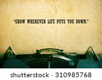 life quote. inspirational quote ...   Shutterstock . vector #310985768