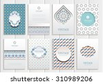 stock vector set of brochures... | Shutterstock .eps vector #310989206