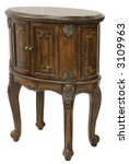 queen anne accent end table in... | Shutterstock . vector #3109963