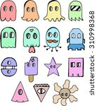 funny colored characters | Shutterstock .eps vector #310998368