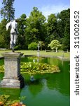 Small photo of Ornamental pool in grounds of Burton Agnes Hall, East Yorkshire, UK