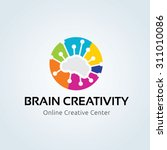 brain creativity logo ... | Shutterstock .eps vector #311010086