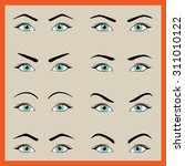 female eyes with different... | Shutterstock .eps vector #311010122
