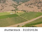 aerial photo of peach farms... | Shutterstock . vector #311014136