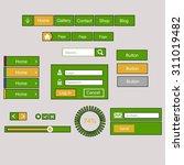 set of flat web elements  icons ...