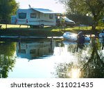 Camping Site On A Lake With...