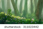 forest painting illustration | Shutterstock . vector #311023442