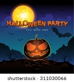 halloween party vector concept... | Shutterstock .eps vector #311030066