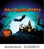 halloween party vector concept... | Shutterstock .eps vector #311030072