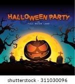 halloween party vector concept... | Shutterstock .eps vector #311030096