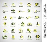 unusual icons set   isolated on ... | Shutterstock .eps vector #311033666