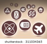 interface design with icons... | Shutterstock . vector #311034365