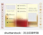 tri fold brochure mock up... | Shutterstock .eps vector #311038958