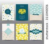 set of geometric brochures and... | Shutterstock .eps vector #311040056