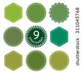 set of eco  green  natural... | Shutterstock .eps vector #311045768