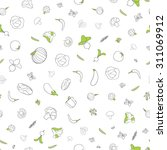 seamless pattern with... | Shutterstock .eps vector #311069912