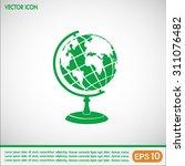 vector globe icons | Shutterstock .eps vector #311076482