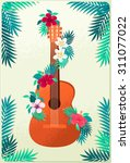Guitar With Plumeria And...