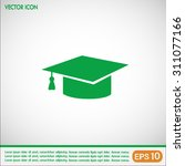 graduation cap vector icon | Shutterstock .eps vector #311077166