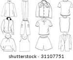 clothes template collection | Shutterstock .eps vector #31107751