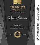 vector certificate template. | Shutterstock .eps vector #311106842