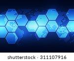 vector digital global...   Shutterstock .eps vector #311107916