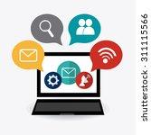 social media design  vector... | Shutterstock .eps vector #311115566