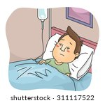illustration of a sick man... | Shutterstock .eps vector #311117522